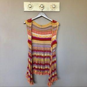 Free People | Colorful Crochet Vest